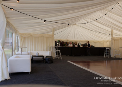 Marquee | Bar | Internal divide | Dancefloor