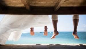 wedding beach feet