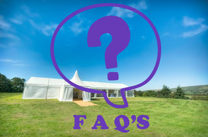 Wedding Marquee Frequently Asked Questions