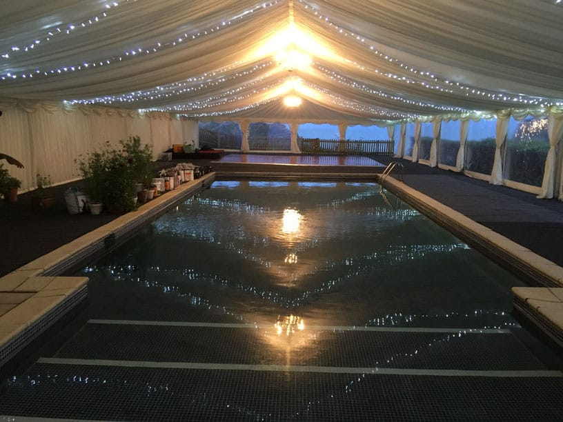 Magical wedding marquee fairylights