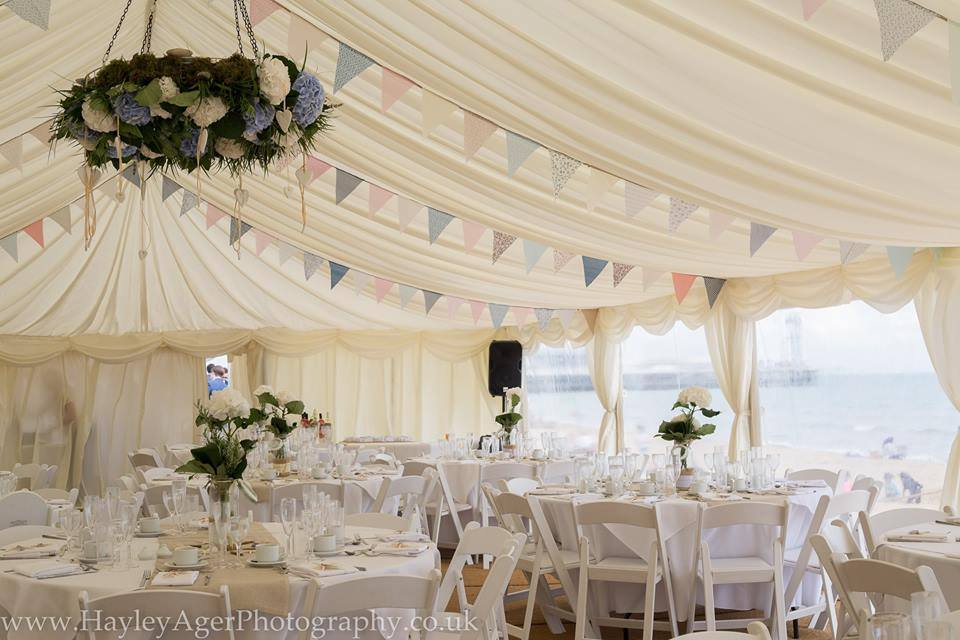fully dressed Wedding marquee