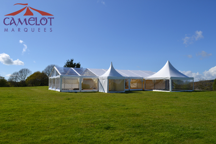 Clear roof marquee at Wilkswood Wedding Venue