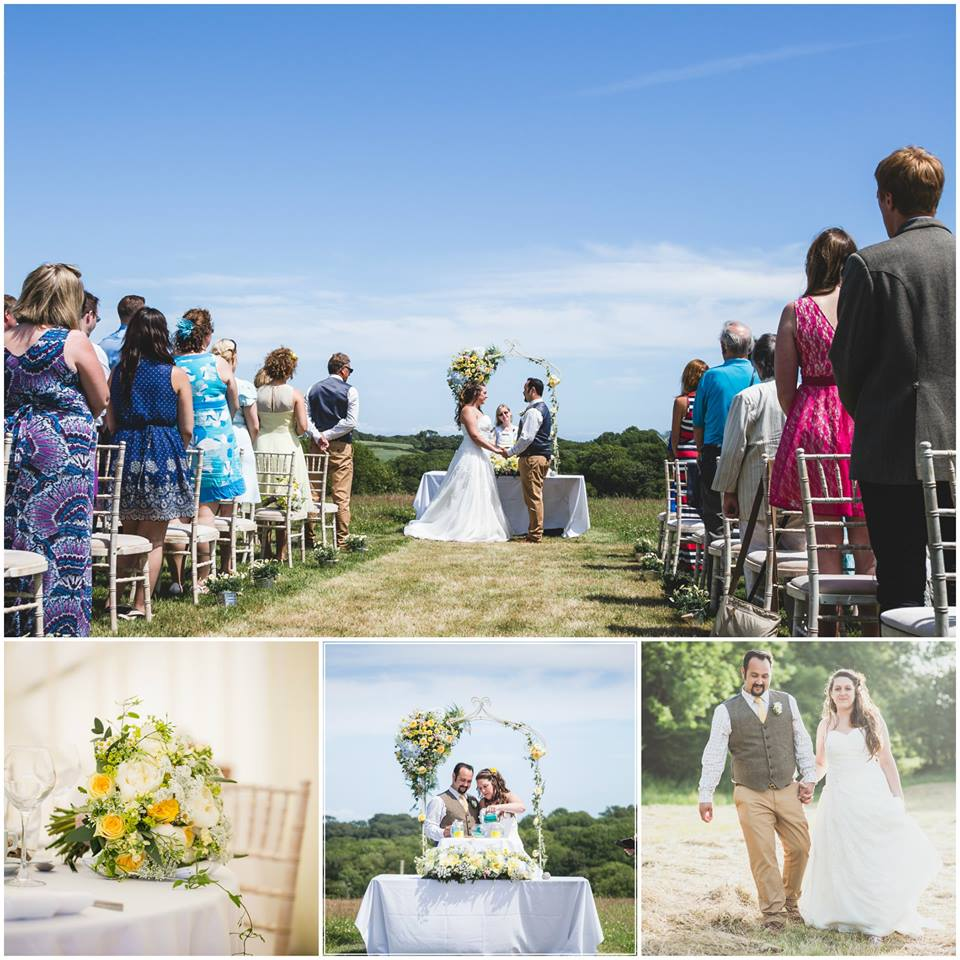 Collection of rustic bride and groom photos