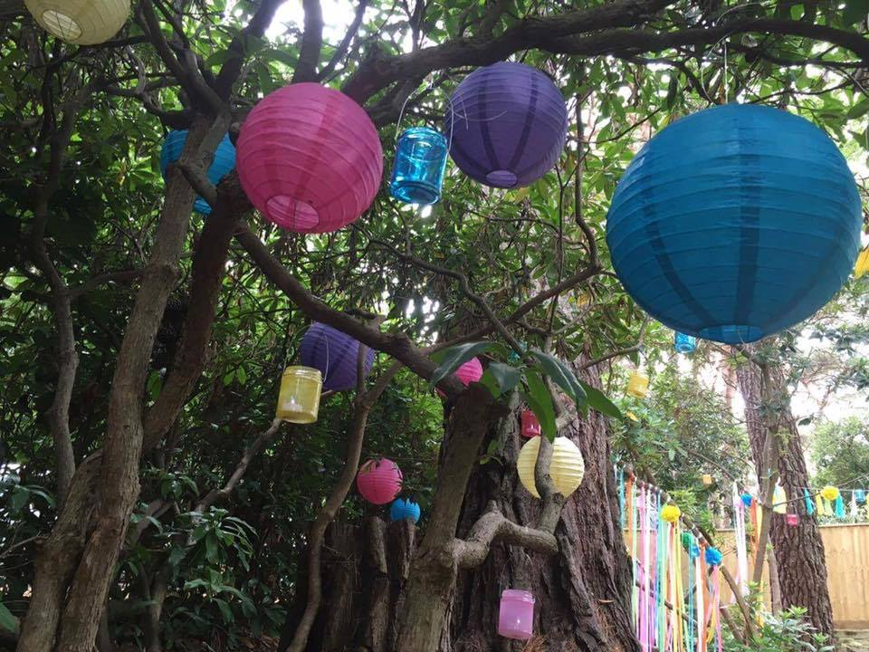 Lanterns and streamers
