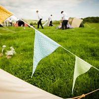 Bunting on the bell tent