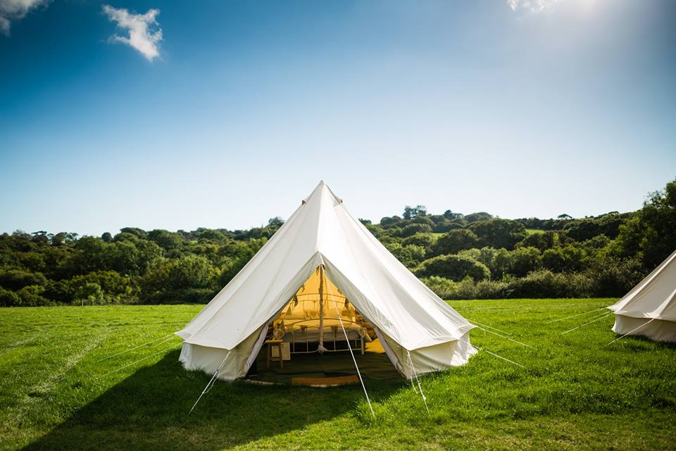 Bride and Groom Bell tent