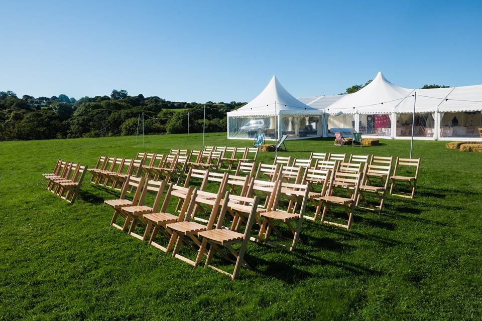 Folding chairs for the outdoor ceremony