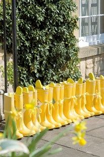 Yellow wellies for guests