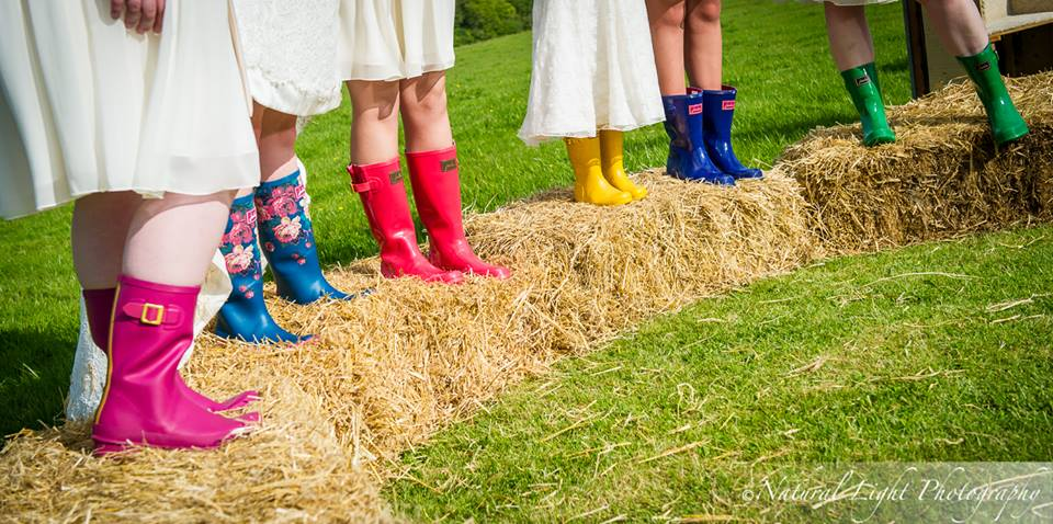 Guests in wellies