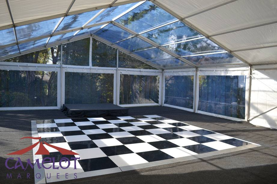 Black And White Dance Floor Under Clear Roofs Camelot